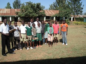 Primary school children are supported by the SKCF in underpriviledged areas.